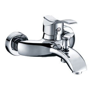 Bath Room Shower Mixer Taps With 2 Handle In Brushed Nickel