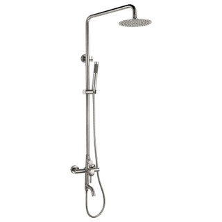 Single Handle SUS304 Square Wall Mounted Bath Shower Mixer set