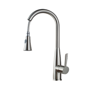Hot Selling Standard Single Handle Flexible Pull Out Bathroom Sink Kitchen Faucet