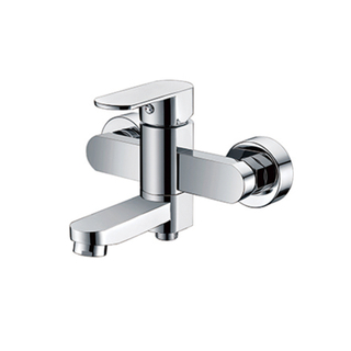 2-Function Wall Mounted Brass Bathroom Shower Diverter Valve