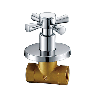 Single Lever Chrome Colored Bathroom Stop Cock SSF17