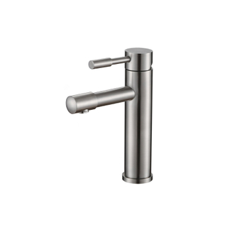 Modern single handle stainless steel lavatory faucet