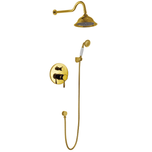Wall Concealed Mixer Tap Brass Shower Set With Handheld Filler