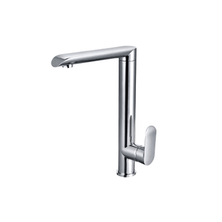 Brushed Nickel Tall Modern Kitchen Sink Faucets