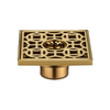 Recessed Design Bronze Metal Shower Drain Parts