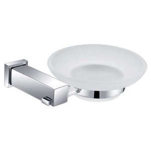 Square Design Shower Glass Soap Dish In Stainless Steel BP9304S