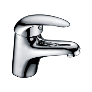 Contemporary Single Handle Brass Bathroom Faucets