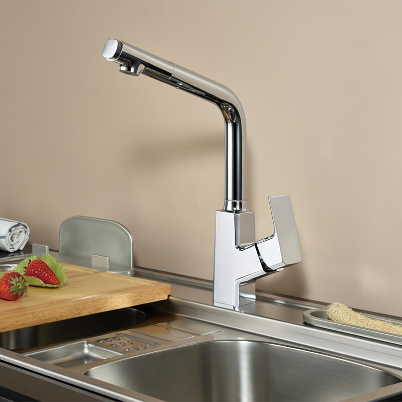 New Pull-down Kitchen Faucet | Brass Single Handle Kitchen Faucet | Deck-mounted Kitchen Sink Faucet