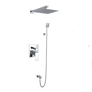 Modern Bathroom Concealed Raining Bath Shower Set With Handshower