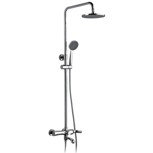 Simple Shower Head Cold Hot Faucet Bathroom Rain Shower Set
