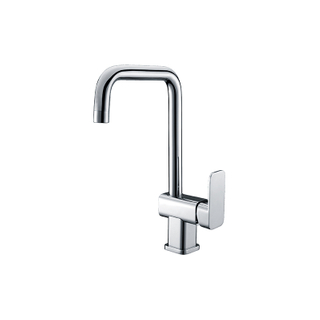 Modern Brushed Nickel Tall Brass Kitchen Sink Faucets With Single Hole