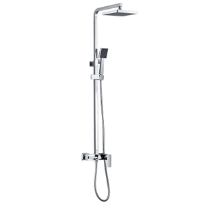 HANWEI Wall Mount Bath Mixer Taps With Shower In White And Chrome