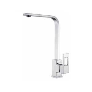Chrome Single Handle Brass Kitchen Faucet With Ss Hoses