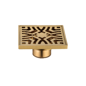 Golden Bathtoom Use Copper Commercial Floor Drain Grates