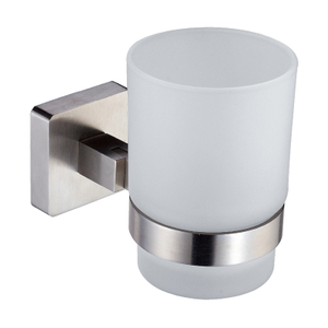 Modern Wall Mounted Glass Toothbrush Holder