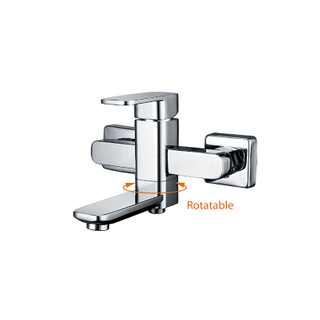 Surface Mounted Bathtub Shower Faucet In Polished Chrome
