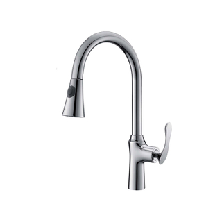 Pull Out Flexible Long Handle Upc Commercial Kitchen Faucet