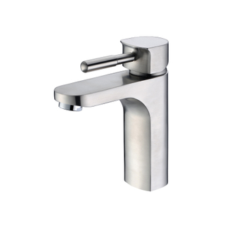 Unique design modern polished stainless steel bathroom sink faucets