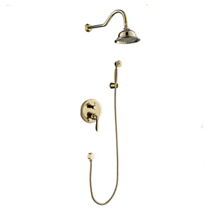Wall Mounted Rainfall Bath Concealed Shower Set with Hand Shower