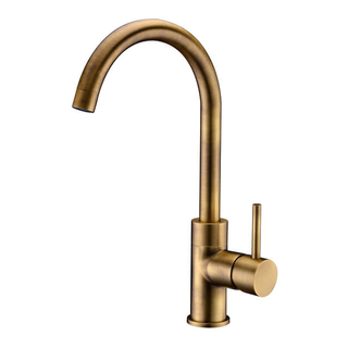 Best Price Long Neck Water Chrome Lever Single Handle Kitchen Faucet
