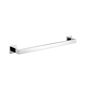 Towel Bar | Bathroom Single Towel Bar | Chrome Square Towel Bar Holder Wall Mounted