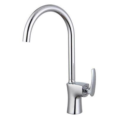 Brass Kitchen Faucet | Single Handle Kitchen Sink Faucet | Chrome One Hole Kitchen Faucets