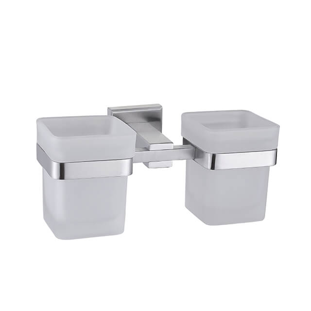 Bathroom Double Cup Holder | Stainless Steel Cup Holder for Bathroom | Bathroom Accessories Manufacturer